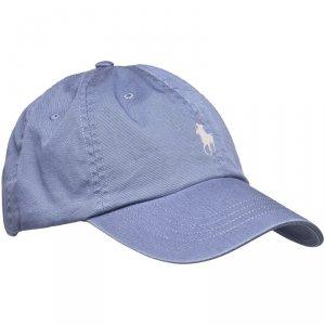 Ralph Lauren czapka z daszkiem unisex błękitna