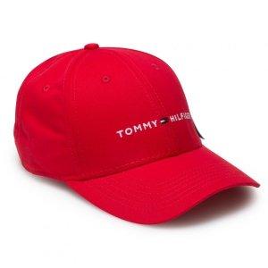 Tommy Hilfiger czapka z daszkiem unisex czerwona