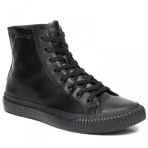 Calvin Klein Jeans buty trampki wysokie męskie czarne Icaro Nappa Smooth S1736