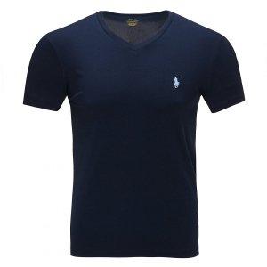 Polo Ralph Lauren koszulka t-shirt męski V-neck slim fit granat