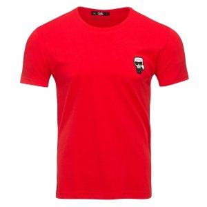 Karl Lagerfeld  t-shirt koszulka męska czerwona