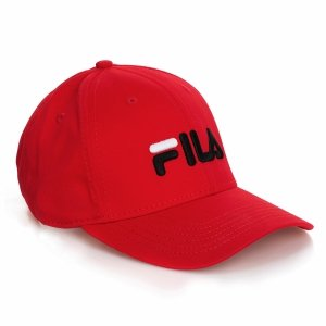 Fila czapka z daszkiem czerwona bejsbolówka Panel Cap Linear Logo