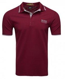 Hugo Boss koszulka polo polówka męska bordowa