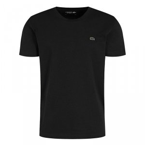 Lacoste t-shirt koszulka męska regular fit czarny