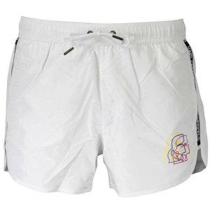 Karl Lagerfeld spodenki szorty męskie białe KL20MBS02
