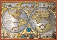 Puzzle Piatnik Mapa świata, 1000 części