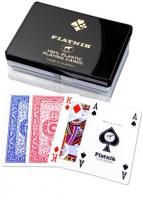Eleganckie karty plastikowe w pudełku - 2 talie