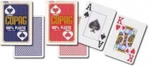 Copag plastikowe karty do pokera czerwony rewers, duży indeks