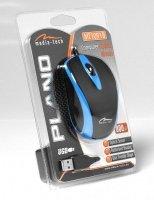 Mysz optyczna 800dpi czarno-niebieska MT1091B