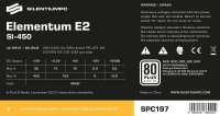 Zasilacz Elementum E2 SI 450W (80+ EU, 1xPEG, 120mm)
