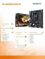 Płyta główna GA-AB350M-DS3H V2 AM4 B350 4DDR4 4USB3/HDMI/DVI M.2 micro ATX
