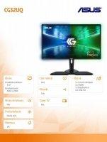 Monitor CG32UQ, 31.5cala 4k(3840x2160), Console Gaming Freesync for Xbox, PS, Nintendo Switch, DP, HDMI, UB3.0, DCI-P3 95%