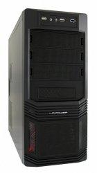 OBUDOWA CASE-PRO-925B MIDITOWER/2xUSB 2.0/1xUSB 3.0/CZARNA/HD-AUDIO/ 600W LC600H-12