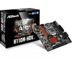 Płyta główna H110M-HDV s1151 2DDR4 USB3.1/VGA/DVI/HDMI micro ATX
