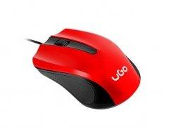 Mysz UMY-1214 1200DPI czerwono-czarna