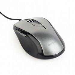 Mysz optyczna USB czarno-szara