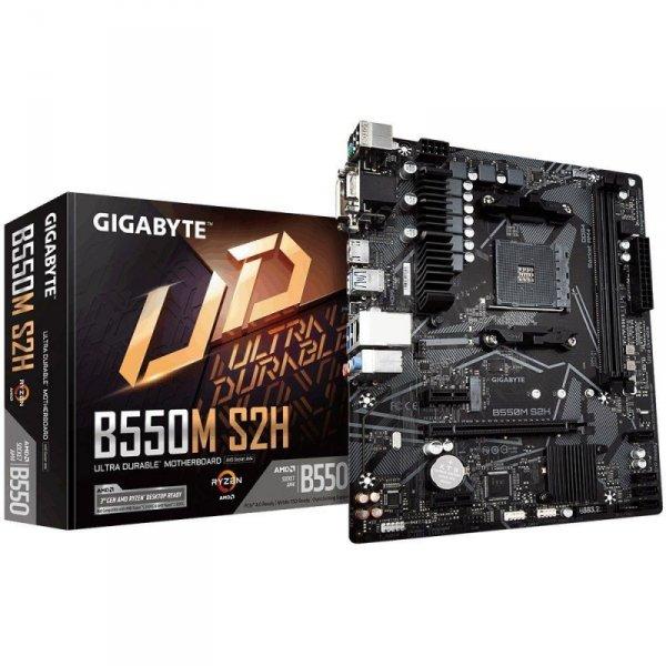 Płyta Gigabyte B550M S2H (rev. 1.0) /AMD B550/DDR4/SATA3/M.2/USB3.0/PCIe4.0/AM4/mATX