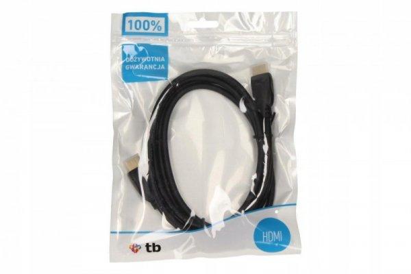 TB Kabel HDMI-HDMI 1.4 pozłacany 1.8 m.