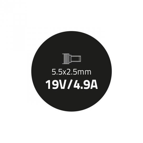 Zasilacz do laptopa 90W | 19V | 4.9A | 5.5*2.5