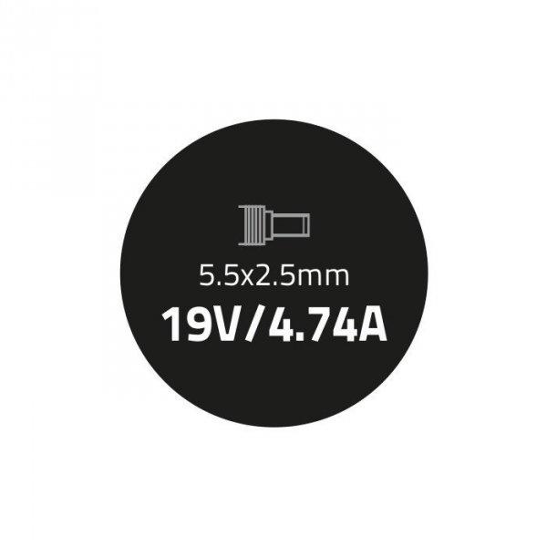 Zasilacz do Asus 19V | 90W | 4.74A | 5.5*2.5