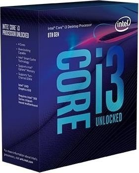 Procesor Core i3-8100 BOX 3.60GHz, LGA1151
