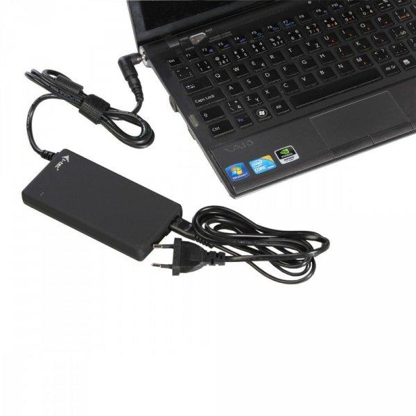 Ultra Slim Uniwersalny zasilacz sieciowy 90W 1x USB typ A i 10 konektorów