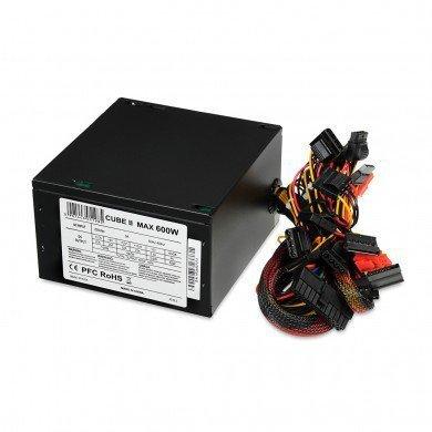 Zasilacz 600 W CUBE II APFC 12 CM BLACK