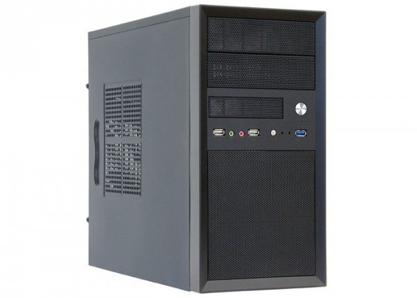Obudowa CT-01B-350GPB 350 W MeshMiniTowerBlack