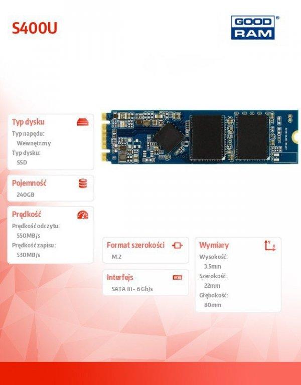 Dysk SSD S400U 240GB M.2 SATA3 2280
