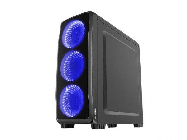 Obudowa Genesis Titan 750 USB 3.0 z oknem niebieskie  podświetlenie