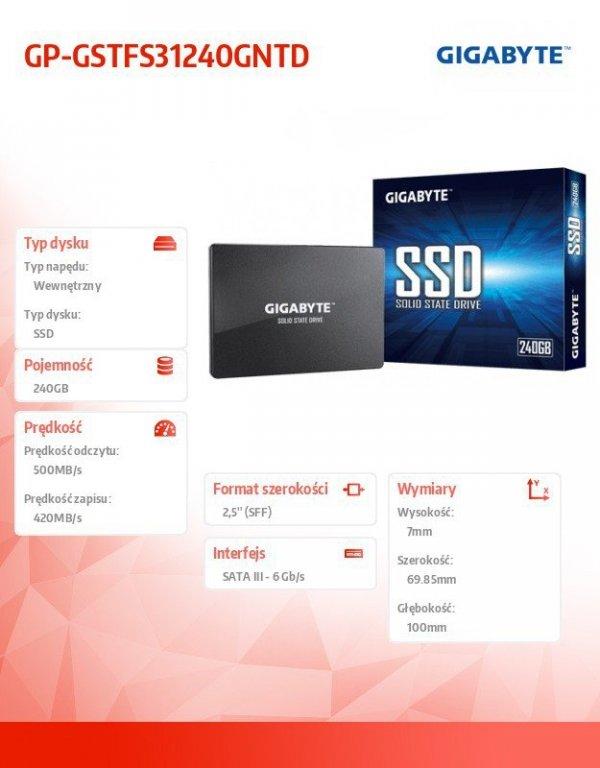 Dysk SSD 240GB 2,5 SATA3 500/420MB/s 7mm