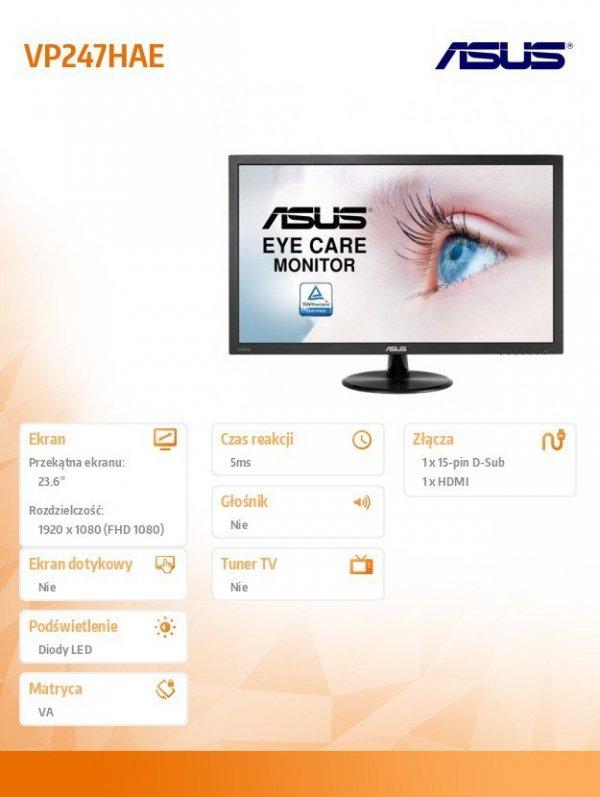 Monitor 24 VP247HAE FHD VA FHD HDMI D-SUB