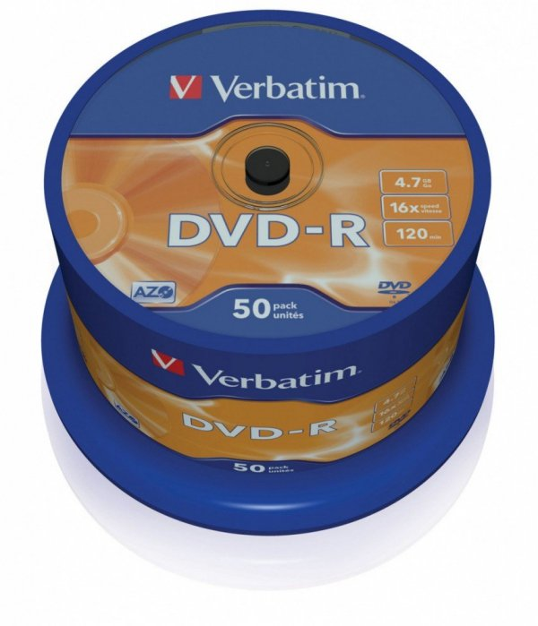 DVD-R 16x 4.7GB 50P CB             43548