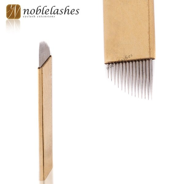 Ago / aghi per microblading metodo pelo a pelo, oro 12/14
