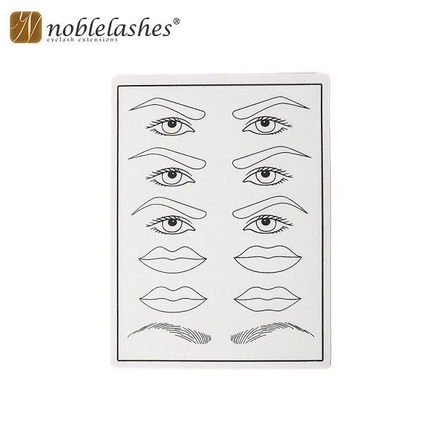Pelle finta  per esercitazione per sopracciglia, occhi e labbra