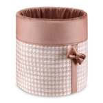 Box na zabawki GLAMUR pudrowy róż