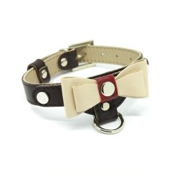 Luxurious PRESTIGE collar - dark brown