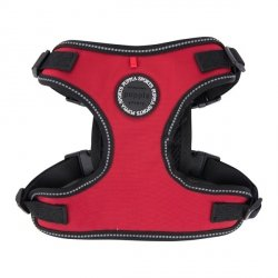 Reflective and waterproof Harness TREK F red