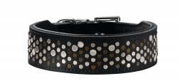 Leather collar ARIZONA black