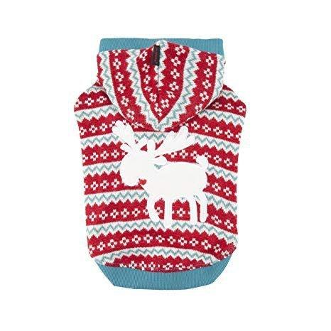 świąteczny czerwony sweter VIXEN dla psa Puppia