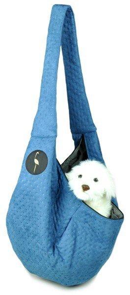 Sportowa torba nosidło SARA niebieska pikowana