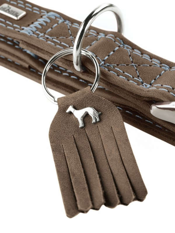 Collar LUCCA ALU-STRONG dark brown Hunter
