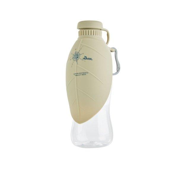 Podróżna butelka z silikonową miseczką LIST beżowa