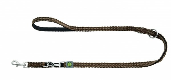 Adjustable dog lead HILO brown