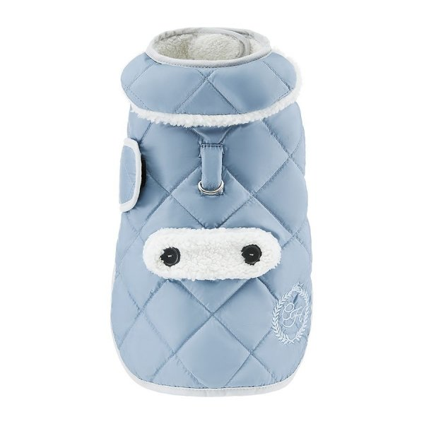 Ciepła kurtka z kożuchem SIENNA niebieska dla psa
