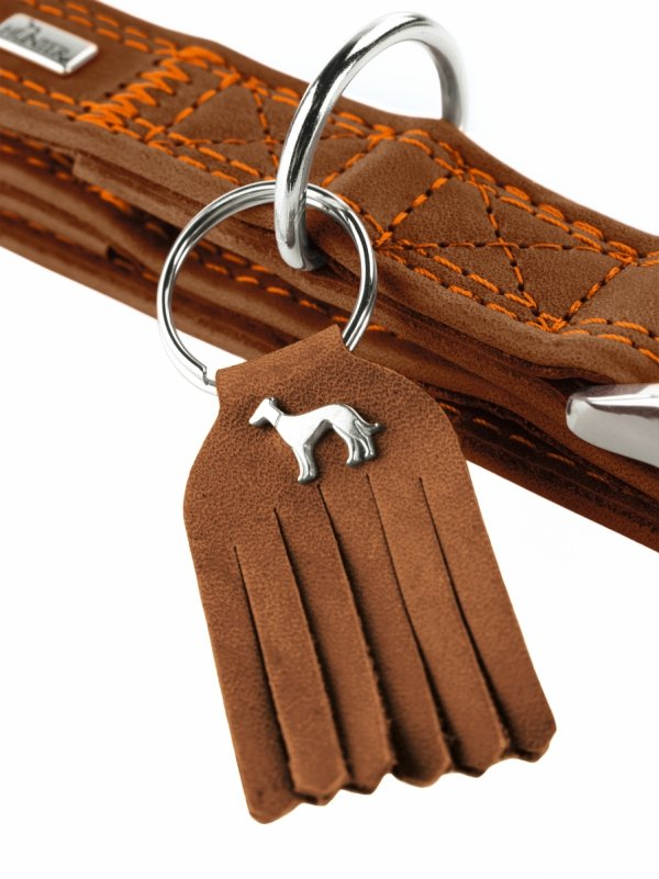 Collar LUCCA ALU-STRONG brown Hunter