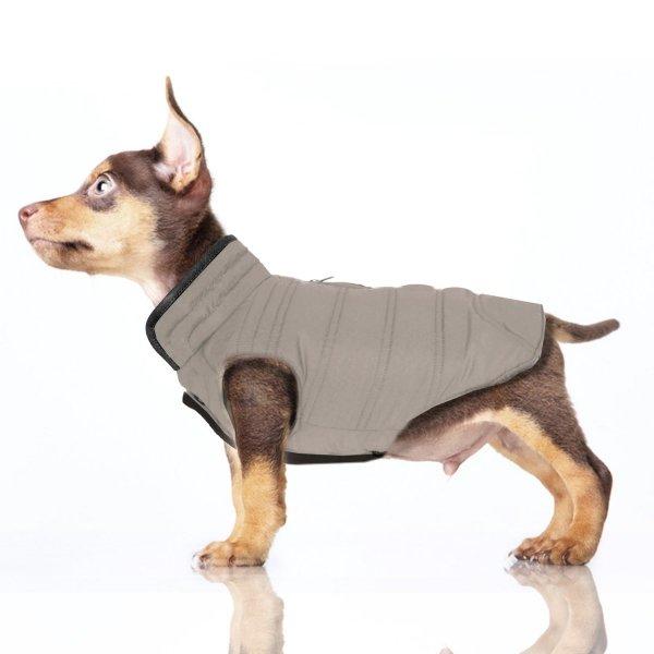 dwustronna, zimowa, puchowa kurtka dla psa od Milk & Pepper