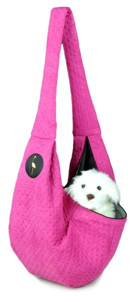 Sportowa torba nosidło SARA różowy pikowany