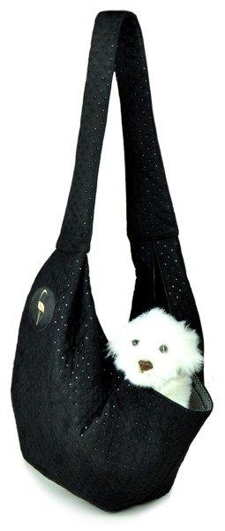 Sportowa torba nosidło SARA czarny pikowany