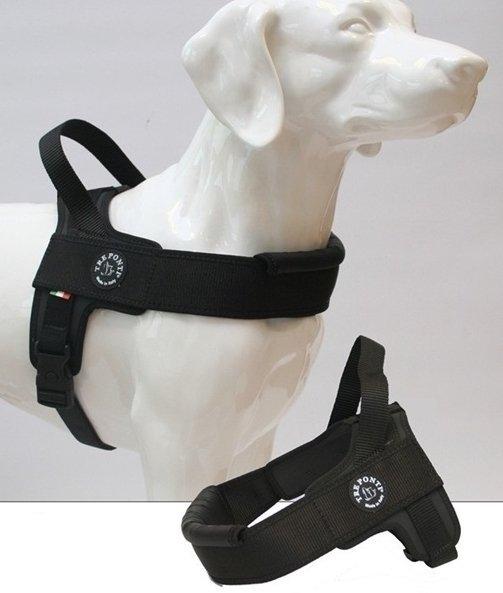 Szelki PRIMO PLUS czarne matowe dla dużego psa